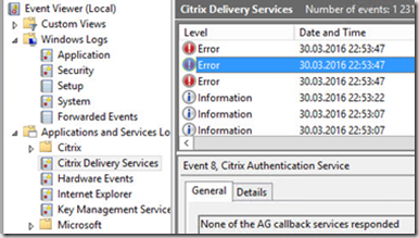 Troubleshooting ICA-proxy and authentication sessions NetScaler